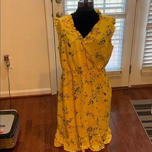 NWOT Ann Taylor Loft Plus Sunny Yellow Dress Sz.16